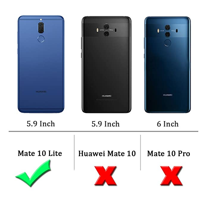 Sucnakp Compatible with Huawei Mate 10 Lite Case,TPU Shock Absorption Technology Raised Bezels Protective for Mate 10 Lite(Black)