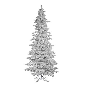 factory price bea64 77588 Vickerman 9' Unlit Flocked White Slim Artificial Christmas Tree