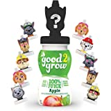 good2grow Paw Patrol Collector 100% Apple Juice, 6-pack of 6-Ounce Spill Proof Character Top Bottles, Non-GMO with no…