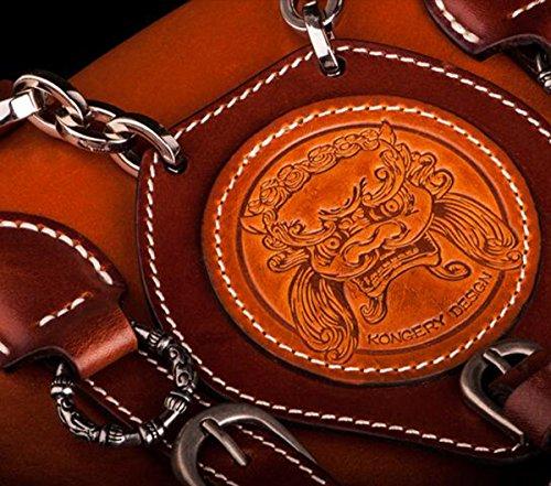 China Palaeowind Manual Harley Locomotora Mano Primera Capa Cuero Hombro Paquete Diagonal Paquete 31 * 22 * ??9cm