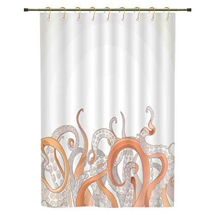 Shower CurtainOctopus DecorOctopus Tentacles Background Underwater Marine Nature And Sea Creatures Nautical