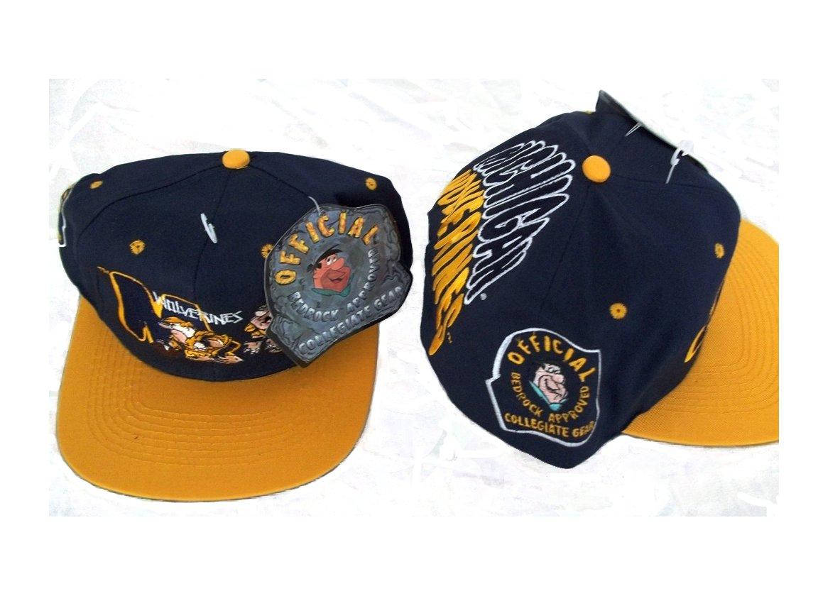 e252b3dbfe1 Amazon.com   NCAA Licensed Vintage Snapback Michigan Wolverines Flintstones  Bedrock Gear Hat   Sports Fan Novelty Headwear   Sports   Outdoors