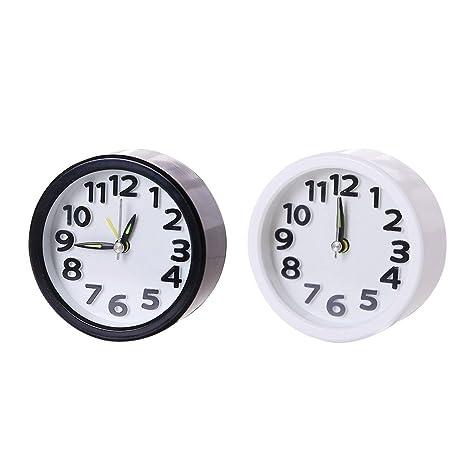 VORCOOL 2 PCS Mini Relojes despertadores Regalo Hogar Oficina Dormitorio Decoración de la Sala de Estar