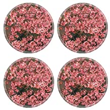 MSD Natural Rubber Round Coasters IMAGE ID 33180747 close up nature in many patten style