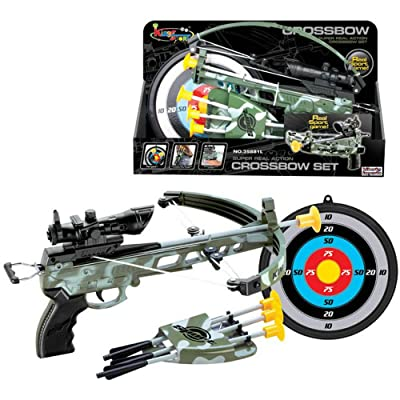 Liberty Imports Military Action Camouflage Kids Toy Crossbow Set - Includes Suction Cup Arrows and Target: Sports & Outdoors