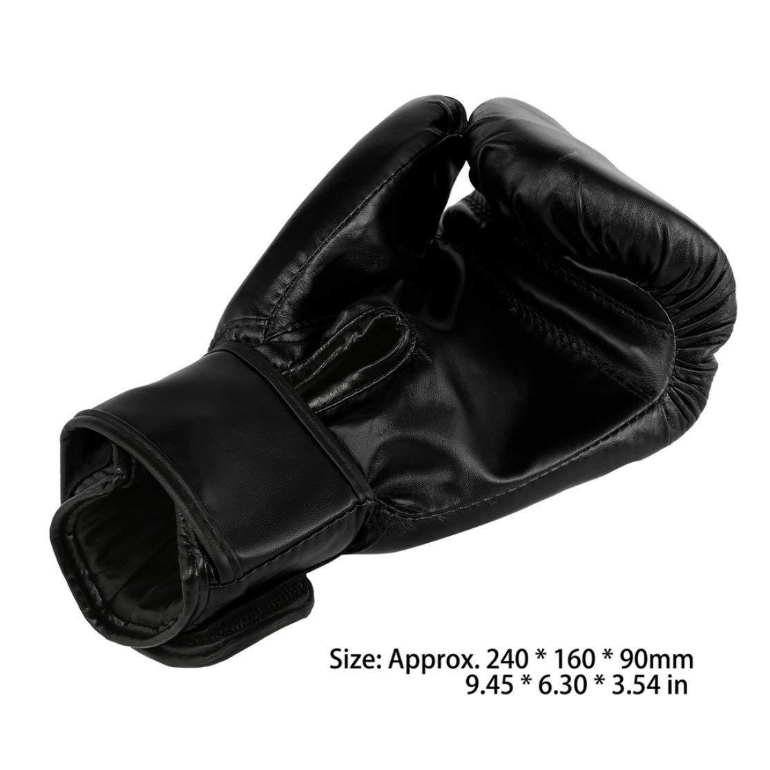 Color:Black Kaemma Guantes de Boxeo para Adultos Rojos y Negros Guantes de Saco de Arena Profesionales Guantes de Kickboxing Pugilismo Hombres Mujeres Entrenamiento Herramienta de Lucha