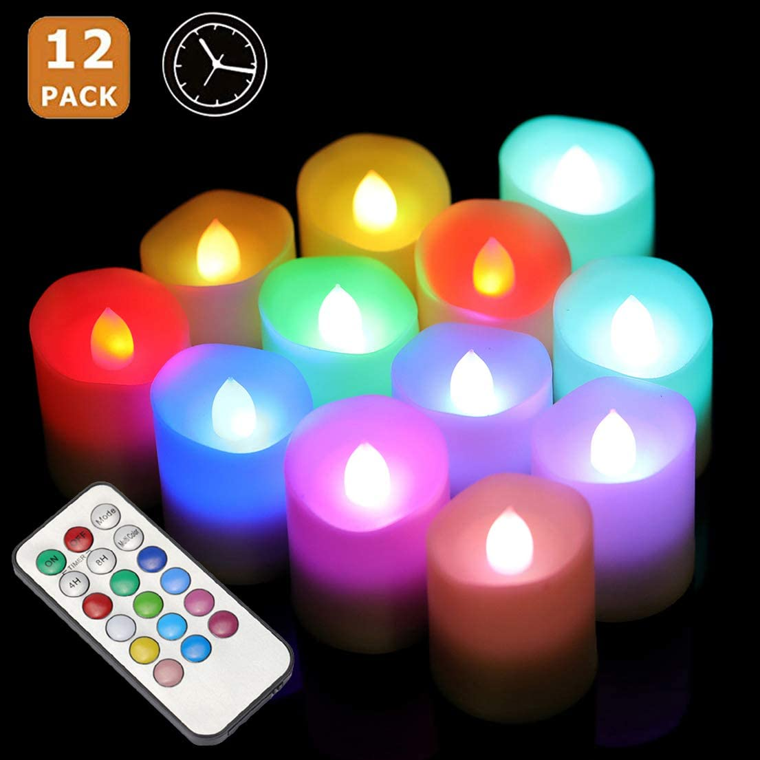 Flameless LED Tea Light Candles Remote Control Battery Operated for Wedding  CA