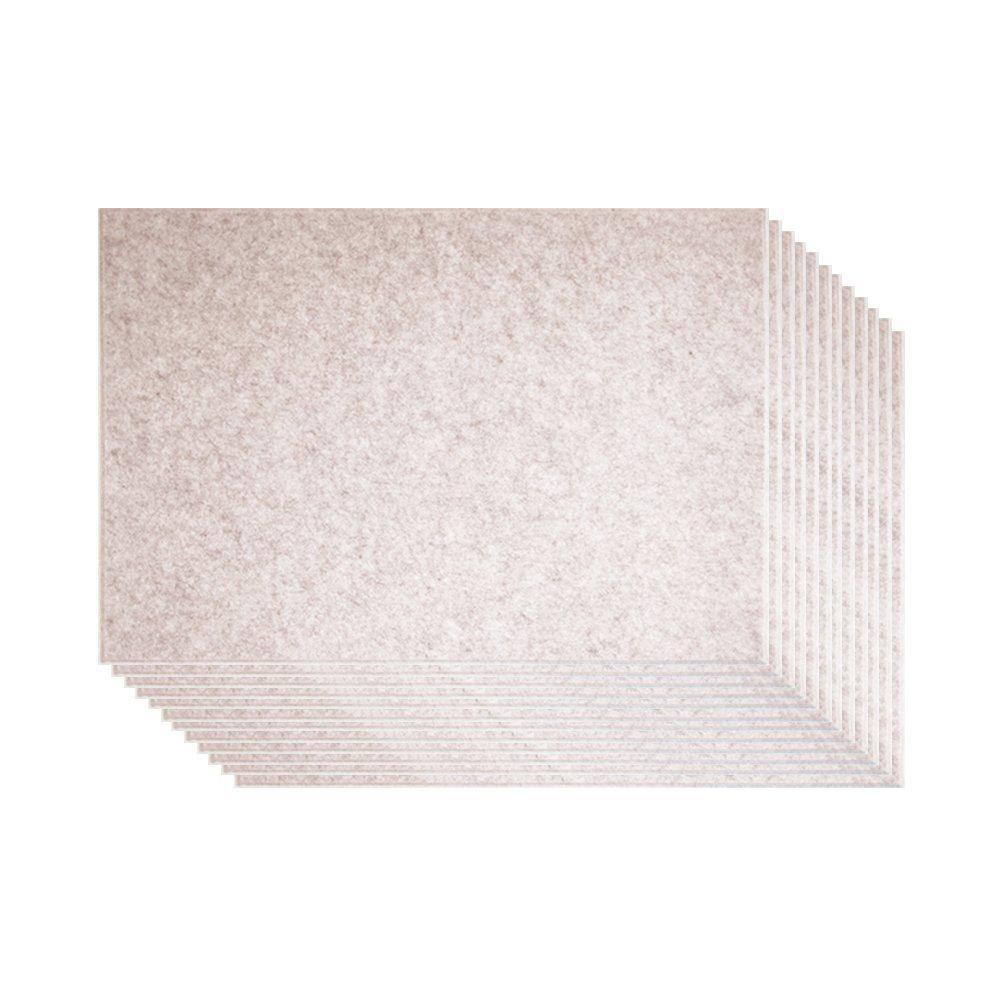 【賃貸でも安心】ピンで取り付け可能な 壁面「吸音」フェルトパネル 45度カット 80×60cm - ベージュ - 12枚セット フェルメノン DS-FB-8060C-BE-CTN   B01L8WAGD4