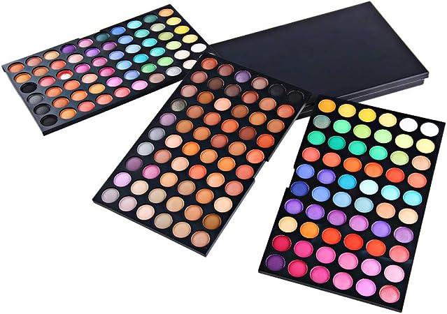 SKFG® 180 colores maquillaje set maquillaje profesional kit Set caja sombras de ojos desnudos colores sombras paleta vegano ojo paleta función maquillaje: Amazon.es: Hogar