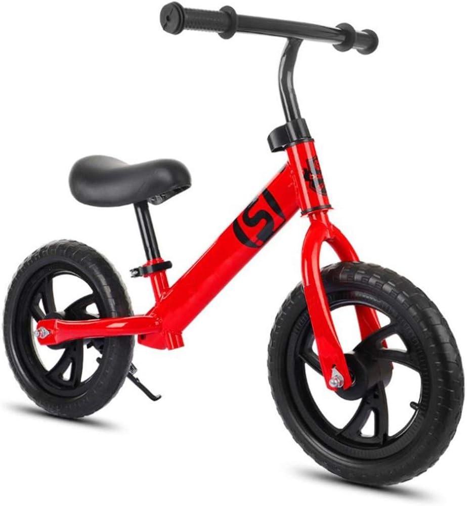 LXIANGP Andador de Bicicletas para Niños 12 Pulgadas Bicicletas de Equilibrio Niños Edad 2-6 Sin Pedal para Caminar Aprendiendo Bicicleta Asa de Manillar Ajustable para Chicos Chicas Fácil de Retraer