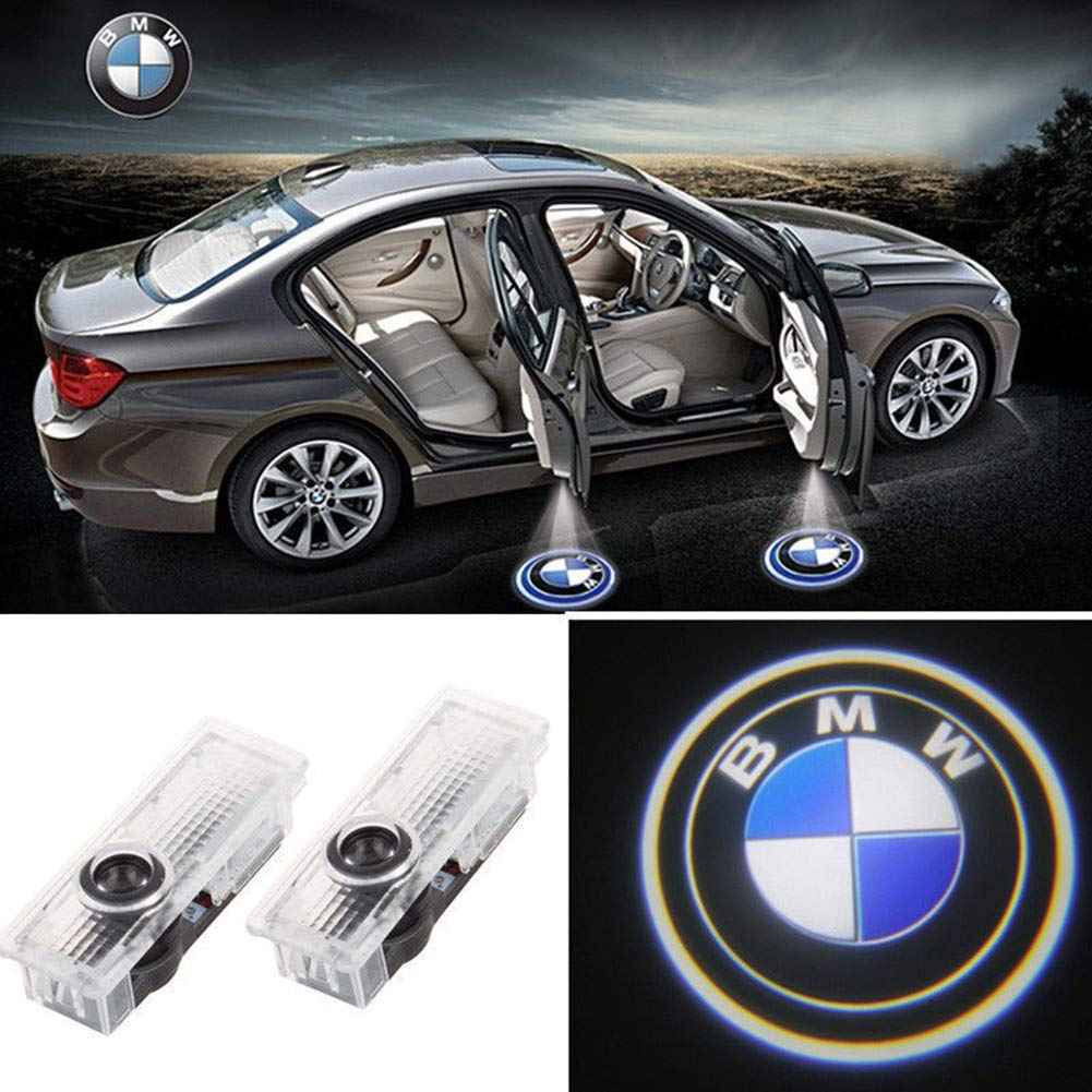 2 pc LED Car Door Projector Light Car Logo Door Sensor Lights Welcome Shadow The lamp for BMW KND Official Store