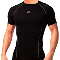 ReDesign Apparels Compression Nylon Top Half Sleeve Tight T-Shirt