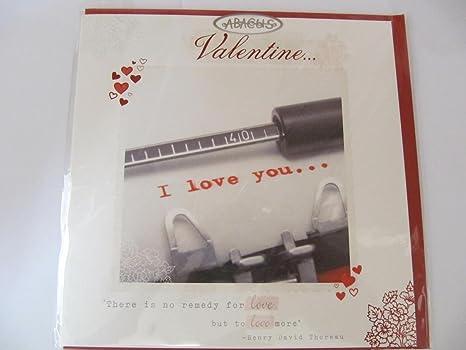 Máquina de escribir mensaje I Love You... San Valentín tarjeta de felicitación