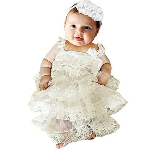 amazon com topmaker lace baby girl baptism dress clothing