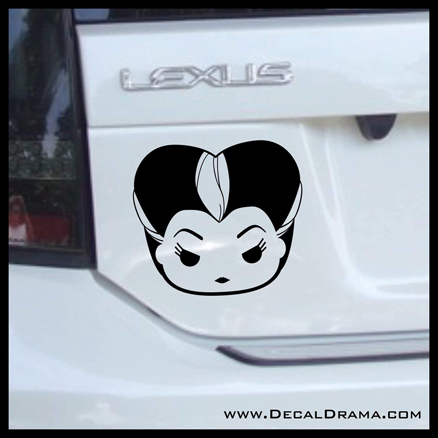 Lady Tremaine Chibi, Cinderella Villain, Vinyl Car/Laptop Decal