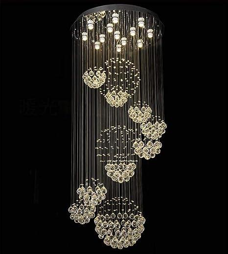 Lámpara de Techo de Cristal, lámpara de Techo Redonda, Acero ...