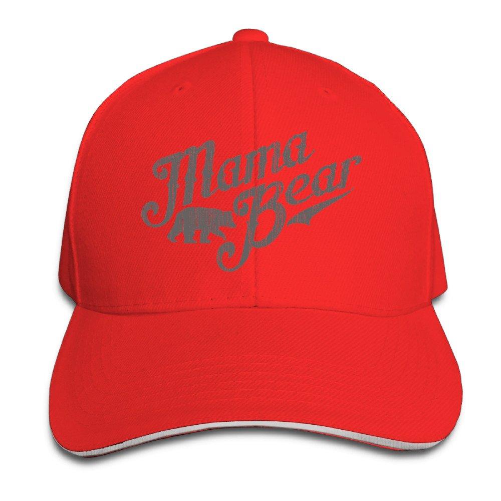 Mama Bear New Mom Gift Visor Hats Style Sandwich Cap Cap