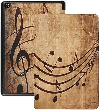 Fire HD Tablet 8 Estuche Partituras Antiguas con Notas Musicales Estuches y Fundas Fire HD 8 (versión 2018 2017 2016, 8a / 7a / 6a generación) con activación/Reposo automático: Amazon.es: Electrónica