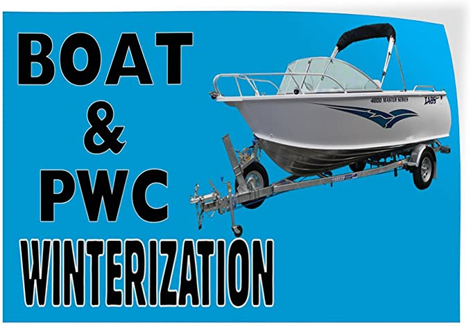 Set of 10 14inx10in Decal Sticker Multiple Sizes Boat /& PWC Winterization #1 Style A Business Transport Outdoor Store Sign Red