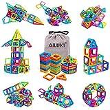 AILUKI Magnetic Blocks, 109 Pcs 3D Magnetic Building Blocks Set Magnet Tiles Educational Construction Kit for Children Creative Imagination Development Magnet Toys