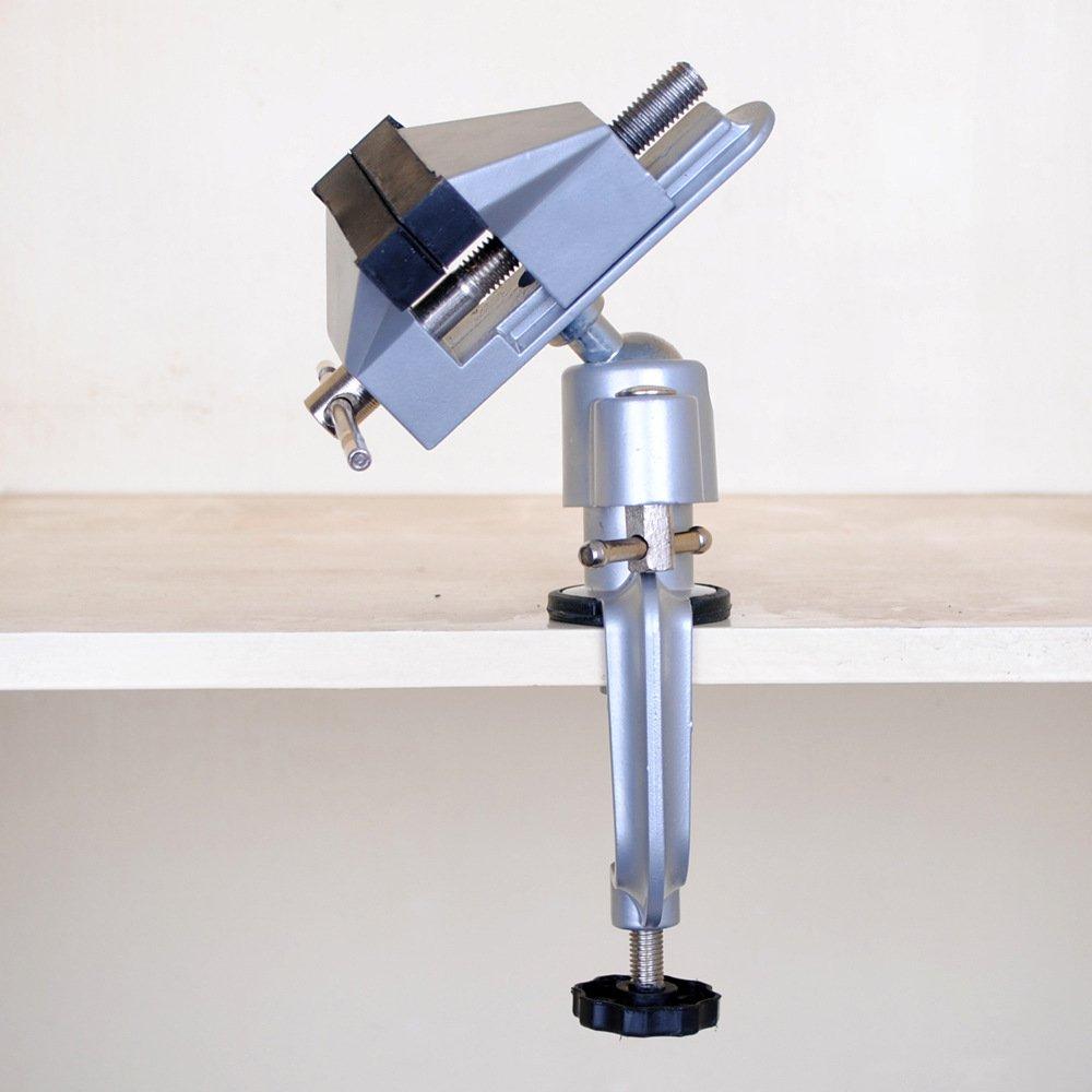nuzamas mesa tornillo de banco tornillo de banco giratorio de aleaci/ón de aluminio 360/Degree giratorio universal abrazadera unidades para tornillo de banco herramientas