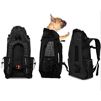 WLDOCA Original Perro Portador Mochila Moda Respirable Perro Mascota Deportes Portador Paquete Deporte,Black: Amazon.es: Deportes y aire libre