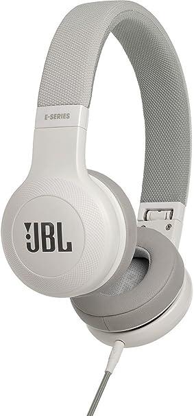 JBL E35 - Auriculares Supraaurales en el Diseño Plegables con Universal de 1 Botones de Mando a Distancia y Micrófono extraíble Cable, Blanco: Amazon.es: ...