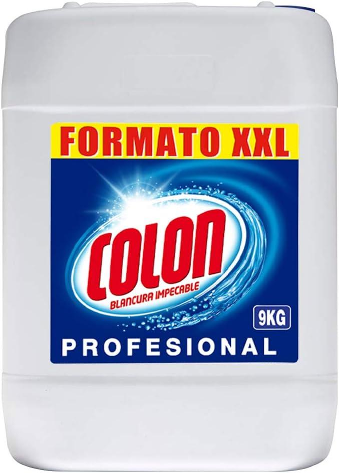 Colon - Detergente para lavadora profesional, adecuado para ropa blanca y de color, formato gel - 9 kg