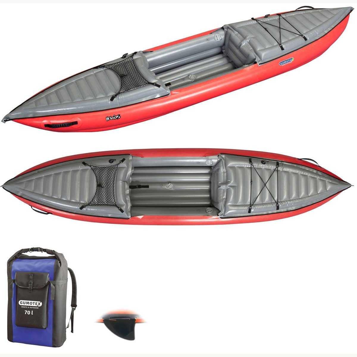 Gumotex Kayak hinchable Helios 1 - 1 persona 1 persona rojo ...
