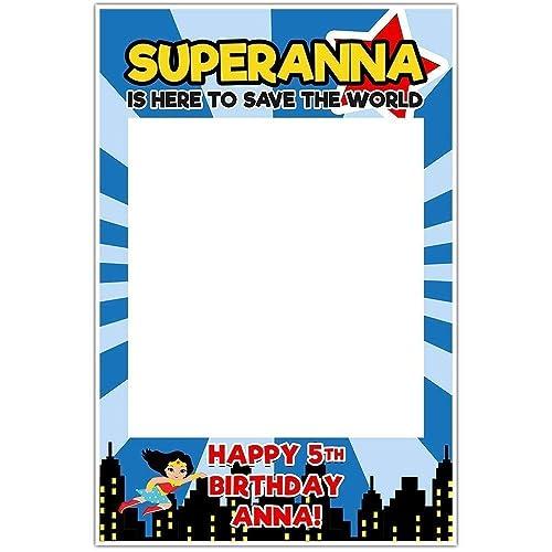 Amazoncom Supergirl Selfie Frame Photo Booth Prop Poster Handmade