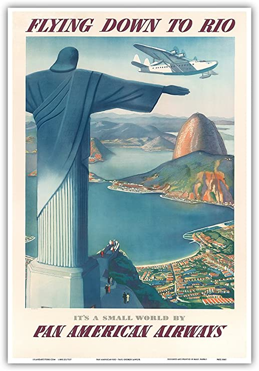 """SAN FRANCISCO American Airlines 8.5/"""" x 11/""""  Travel Poster"""