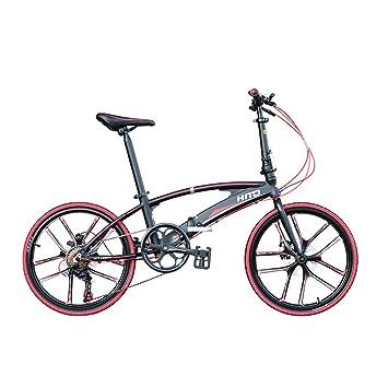 MIRACLEM 20/22 Pulgadas Doble Tubo de Aleación de Aluminio Ultraligero Plegable Bicicleta/Estudiante