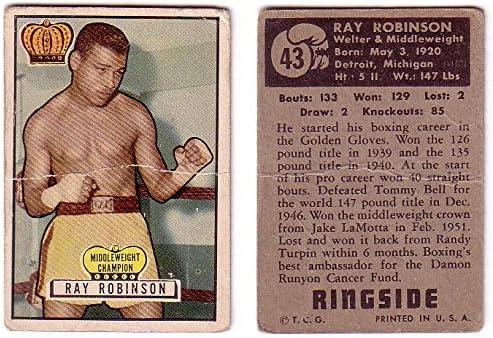1951Ringside Sugar Ray Robinsonボクシングカード# 43