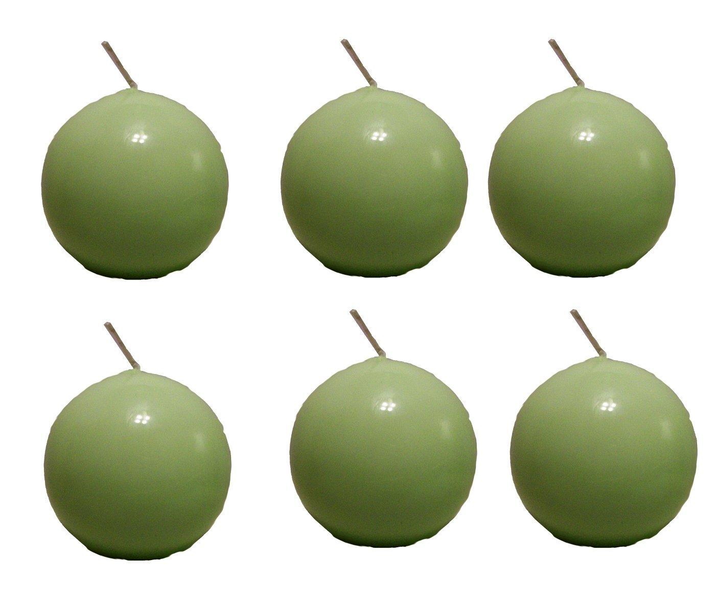 Biedermann & Sons 2-3/4-Inch Round Candles, Daiquiri Green, Set of 6