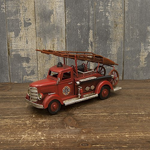Fire Dept Engine - Tin plate made of vintage car FIRE DEPT. Fire engine M size track handmade Setagaya-based vintage car goods minicar American goods American goods