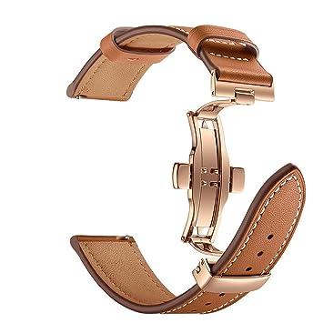 tianranrt mariposa hebilla piel correa de muñeca Watch para amazfit 2/2S 22 mm, Marrón: Amazon.es: Bricolaje y herramientas