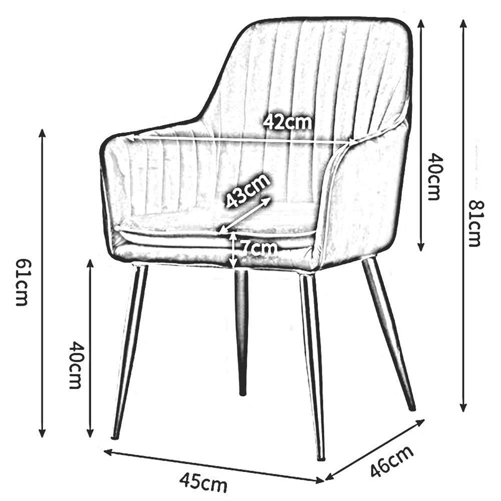 JIEER-C fritidsstol matrumsstol stoppad fritidsstol bord stol metallben fåtöljel vardagsrum kontor restaurang modern möbel hållbar stark Grå 1