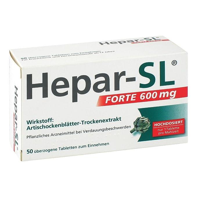 hepar de SL Forte 600 mg Pastillas, 50 unidades: Amazon.es: Salud y cuidado personal
