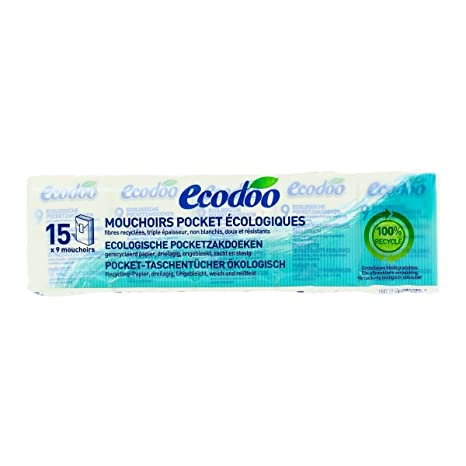 performance sportswear buying now cute cheap Ecodoo - Mouchoirs Pocket Écologiques Les 15 Paquets De 9 ...
