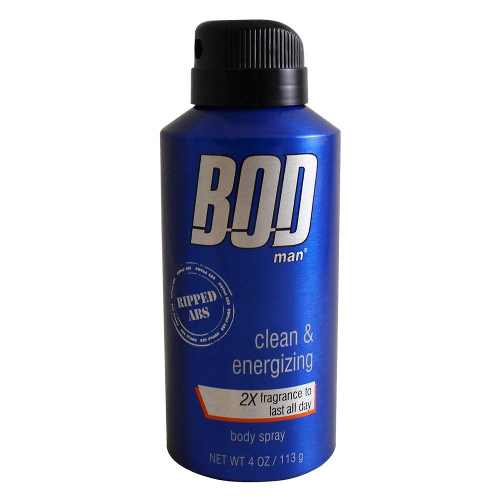 Parfums De Coeur Bod Man Really Ripped Abs for Men Body Spray, 4.0 Ounce