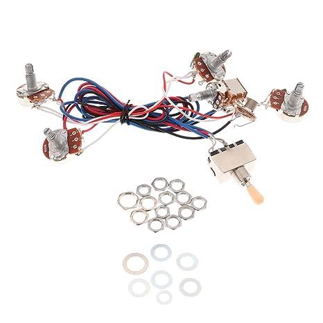Sharplace Juego de Cableado Circuitos con Potenciómetro para Partes de Guitarra Eléctrica - Amarillo, tal