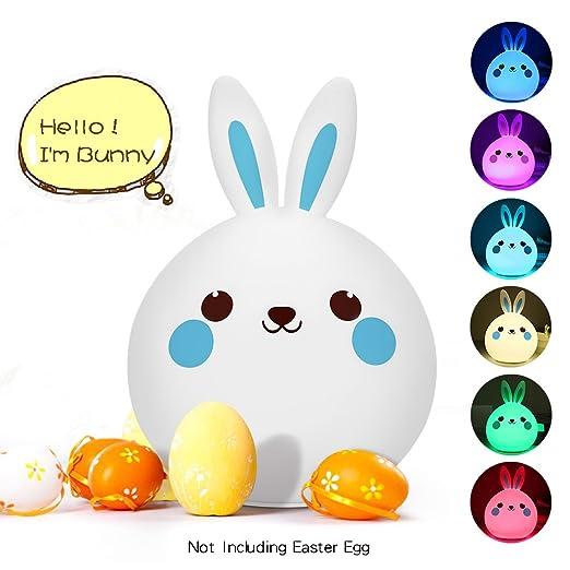 5 opinioni per Luce Notturna Bambini Coniglietto Coniglio Lampada da Comodino Tavolo USB Tap