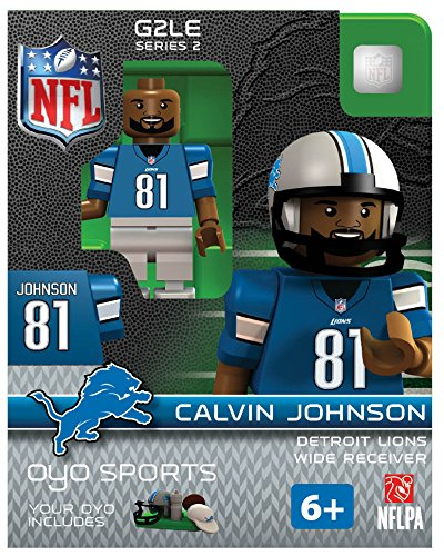 NFL Detroit Lions Calvin Johnson Gen 2 Mini Figure, Petit