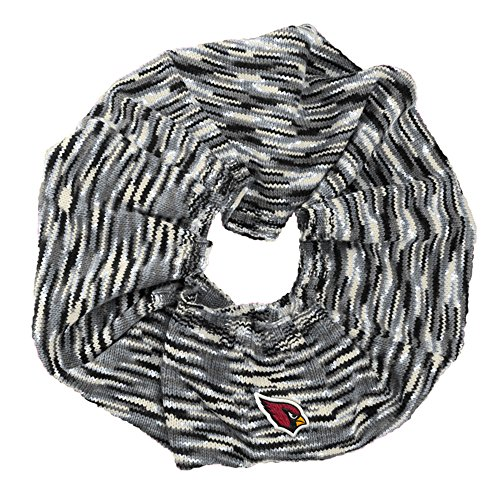 Touch by Alyssa Milano NFL Arizona Cardinals Infinity Space Dye Cozy Scarf, One Size, Light Gray/Black/White