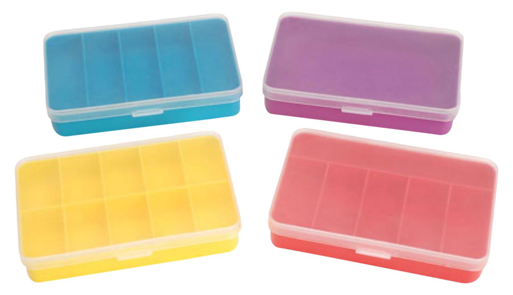 Darice DAR032ST24 Mini Storage Box, 4 Assorted Styles (Pack of 24)