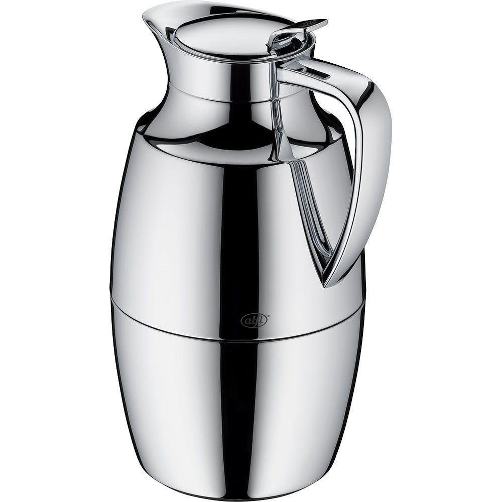 alfi Pallas Glass Vacuum Chrome Plated Brass Thermal Carafe for Hot and Cold Beverages, 1.0 L, Chrome by Alfi (Image #3)