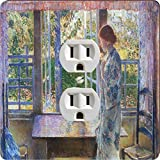 Rikki Knight 3014 Outlet Childe Hassam Art The Goldfish Window Design Outlet Plate