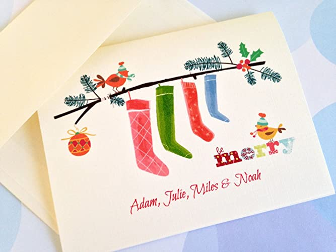 Personalized Christmas Cards.Amazon Com Personalized Christmas Card Custom Christmas