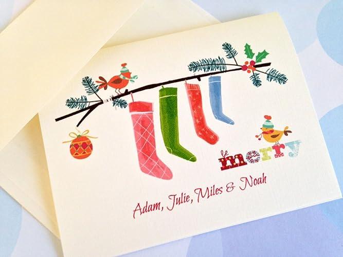 personalized christmas card custom christmas cards set of 10 - Custom Photo Christmas Cards