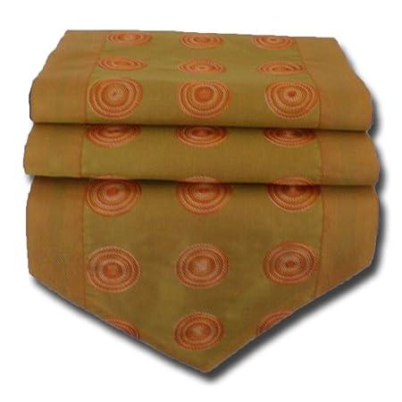 by soljo - naranja mesa de mantel de lino camino de mesa corredor ...